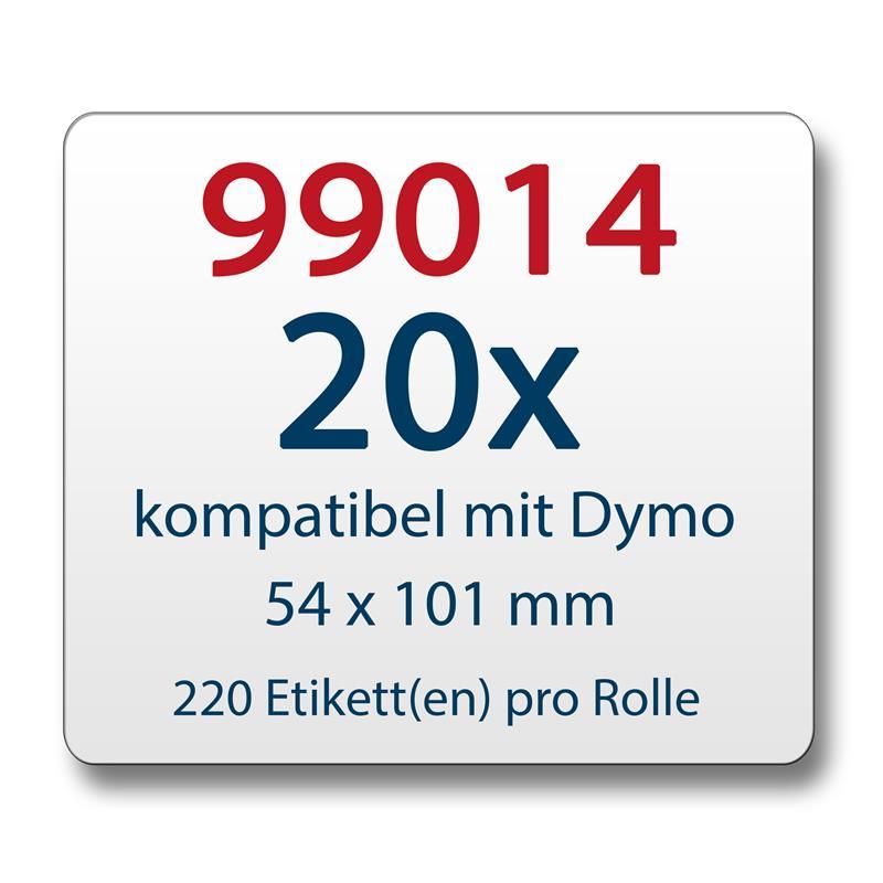 20x-Label-kompat-zu-Dymo-99014-54x101mm-220-Label-Etiketten-pro-Rolle