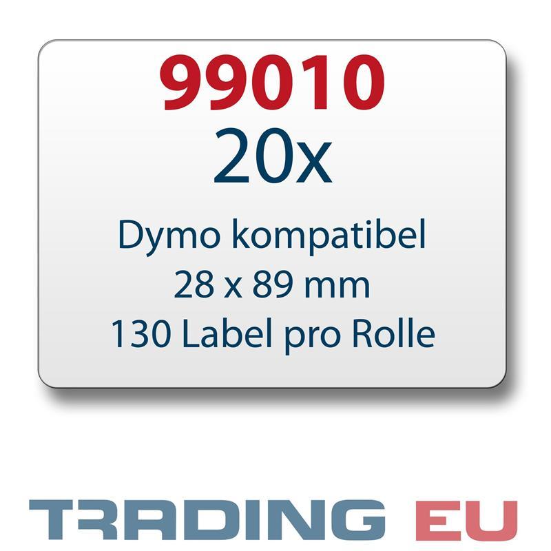 20x-Label-kompat-zu-Dymo-99010-28-x-89-mm-130-Label-Etiketten-pro-Rolle