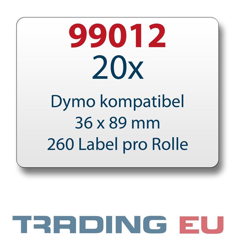 20x-Label-kompat-zu-Dymo-99012-36-x-89-mm-260-Label-Etiketten-pro-Rolle